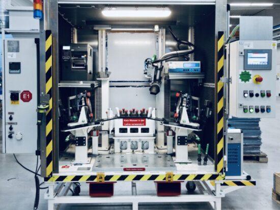 Detail Montageanlage, Maschinen- und Vorrichtungsbau
